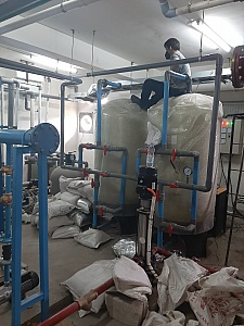 pemasangan tangki carbon filter kapasitas 300 lpm